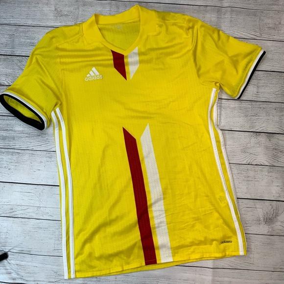 adidas Shirts   Adidas Adizero Yellow Soccer Mesh Jersey Mens Med ...